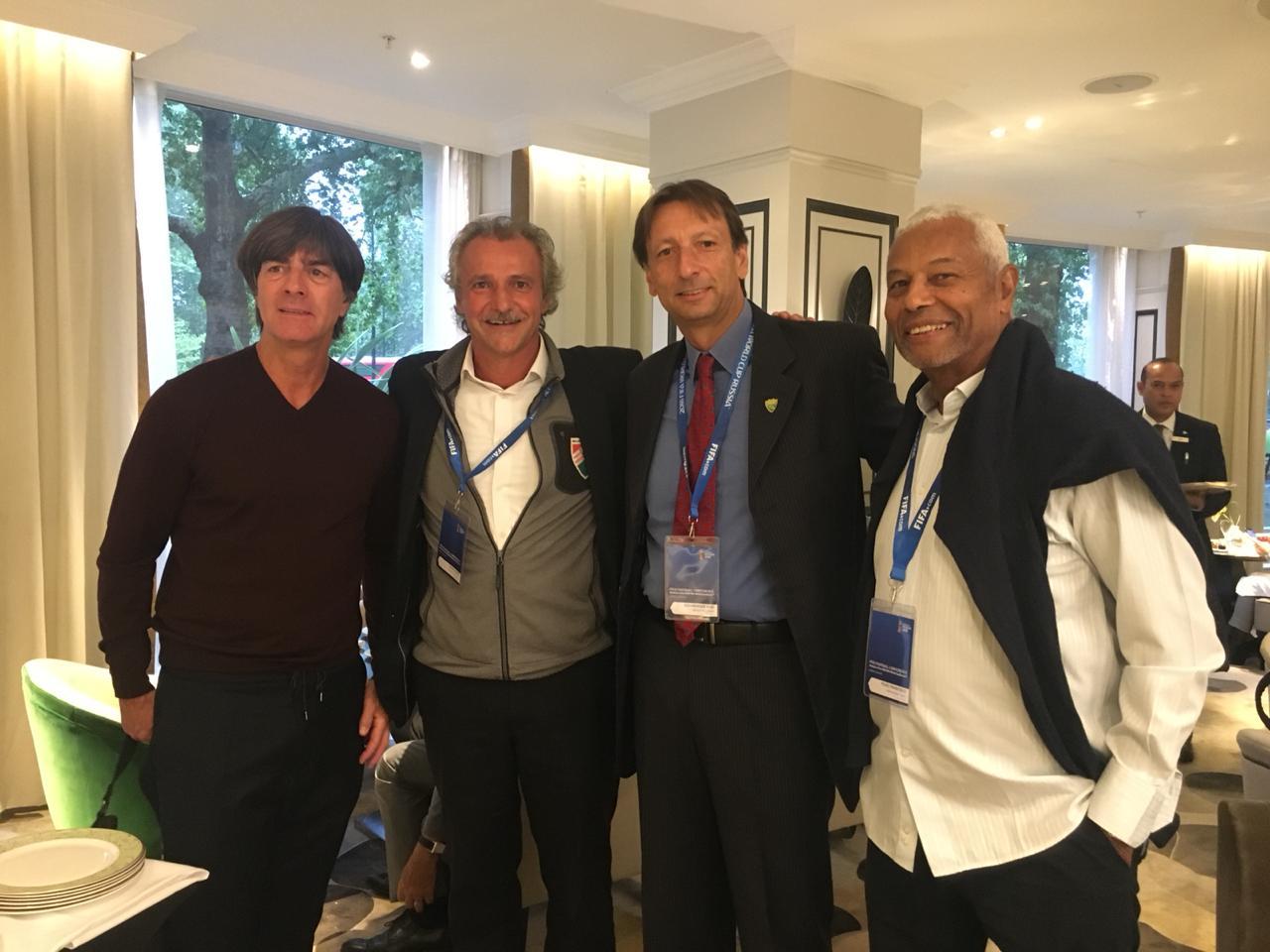Joachim Low, Petar Segrt, Nogueira Jr e José Francisco